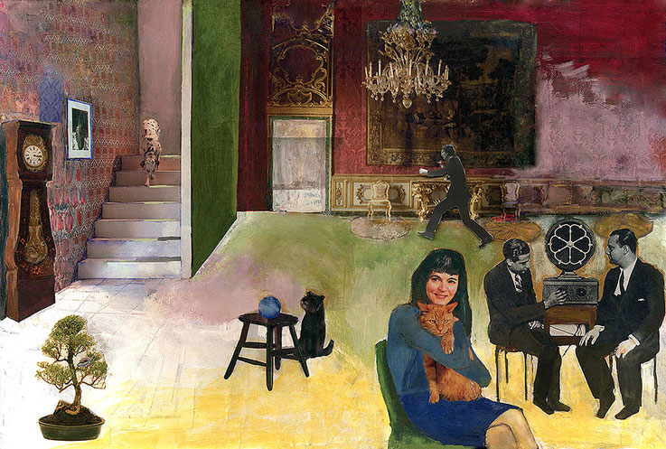 Experiment, collage, 43x62cm,2004