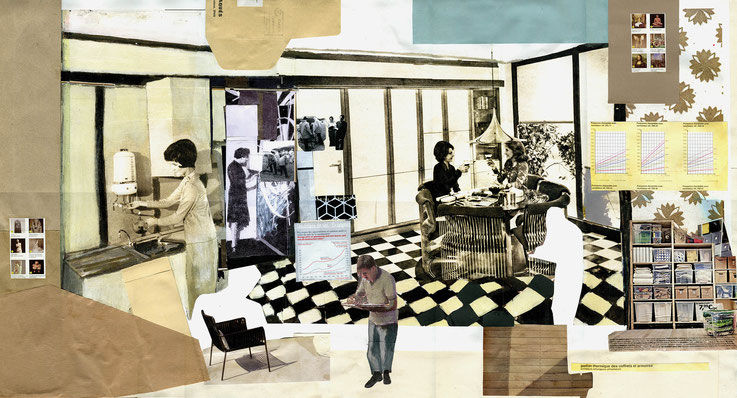 Coffee Two, 50x105cm, 2014, collage