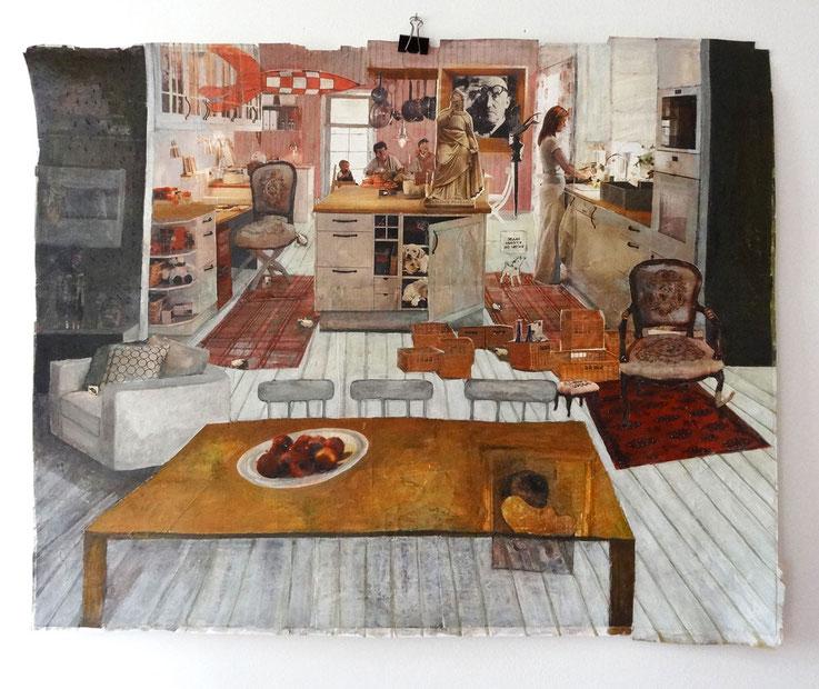 Matine, 43x62cm, 2004, collage
