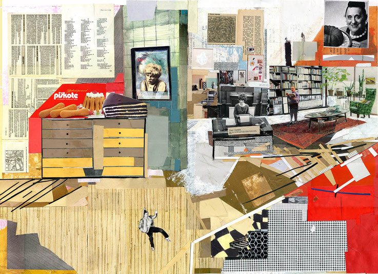 Dear Readers, 80x120cm, 2014, collage