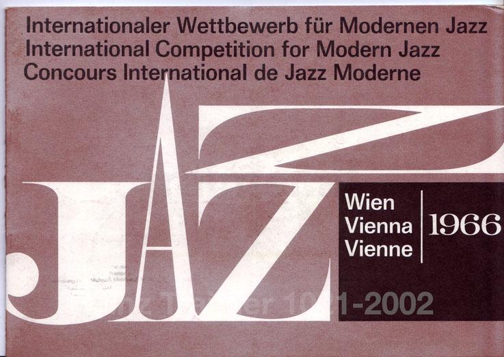 Gulda Wettbewerb Wien 1966. Internationaler Wettbewerb für modernen Jazz - Wien. International Competition for Modern Jazz, Vienna.