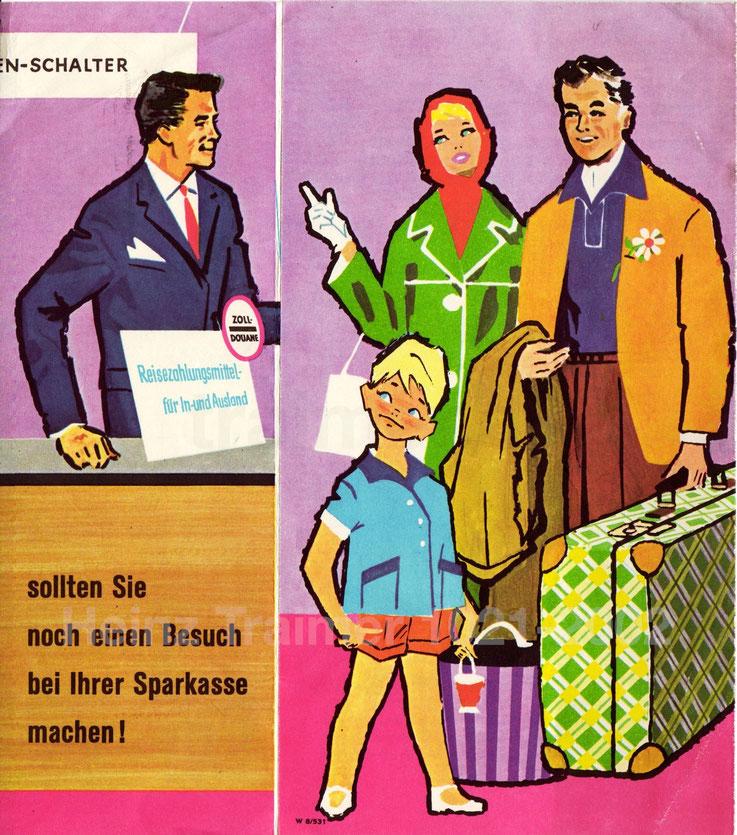 Werbung der Zentralsparkasse in den 1950-er Jahren.