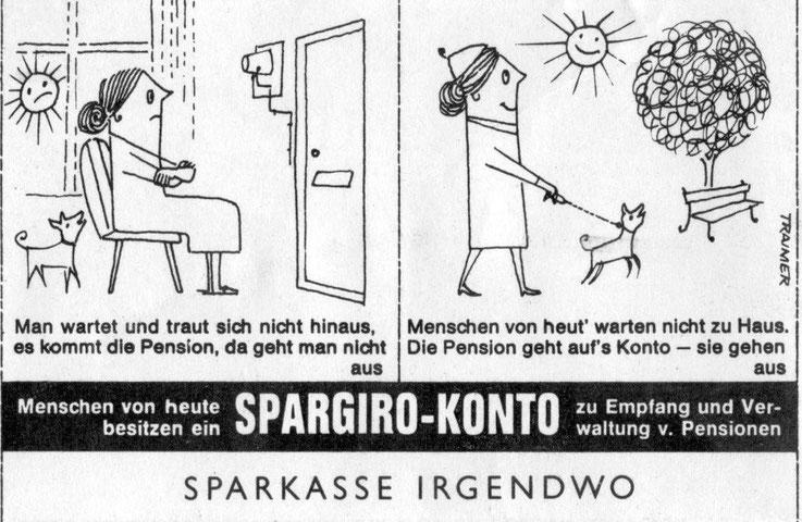 Zeitungs und Inseraten Werbung der Sparkassen in Österreich