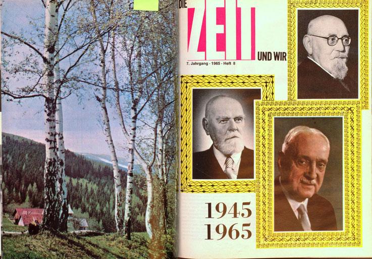 Die Zeit und wir. Magazin der Zentralsparkasse - Ausgabe von 1965. Layout Traimer.