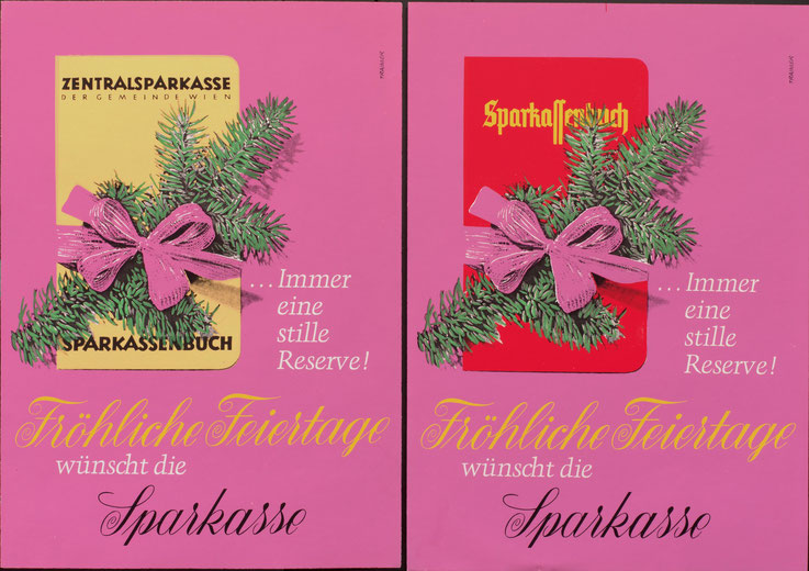 Poster Sparkasse. Design 1960er.
