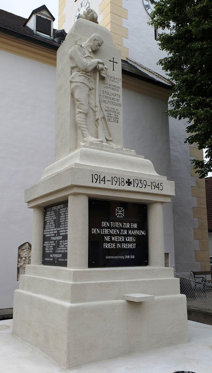 Stollhofen, Kriegerdenkmal nach erfolgter Restaurierung.