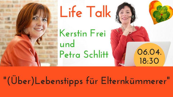 Petra Schlitt im Gespräch mit Kerstin Frei, Life Talk, Demenz, Pflege, Angehörige, Coaching und Beratung