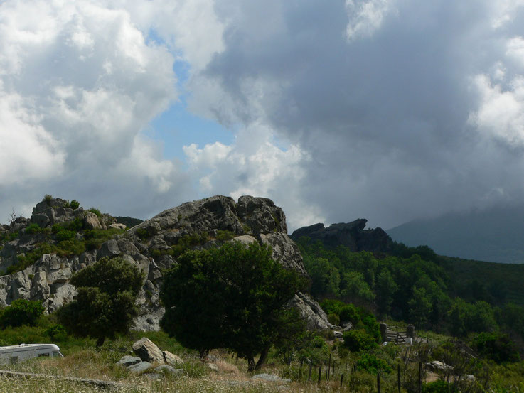 Sur la route de Murato, Corse