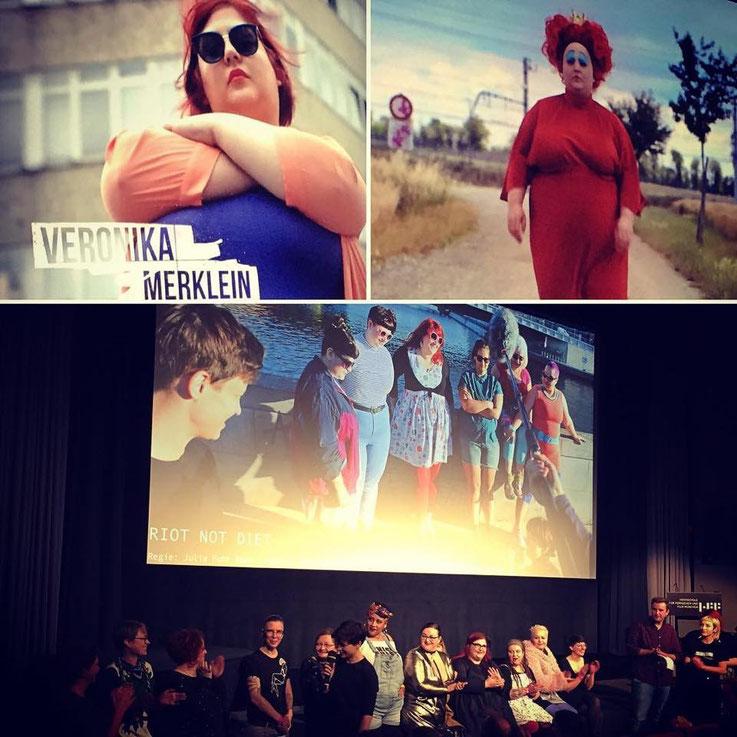 """Premiere von """"Riot Not Diet"""" am 2.2.2018 in der Hochschule für Fernsehen und Film München, Regie: Julia Fuhr Mann, Fotos: Angela Trakas"""