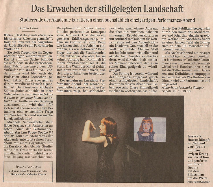 "Press article, ""Der Standard, 19.01.2012"