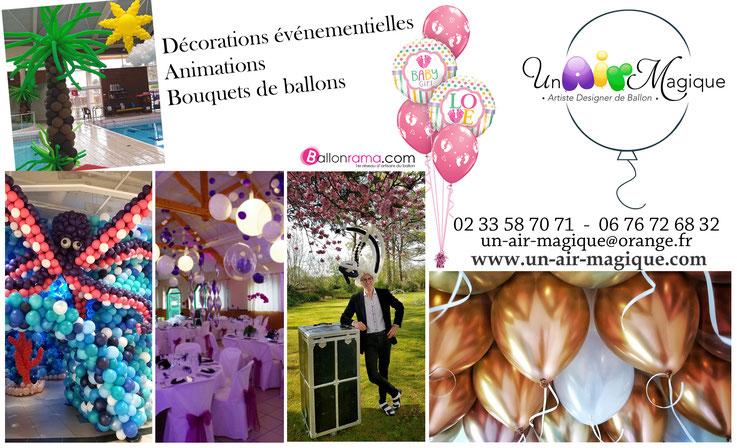 décoration événementielle en ballons manche, normandie, France.
