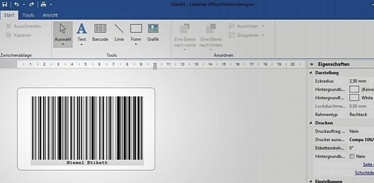 Software Lösungen von Niesel-Etikett