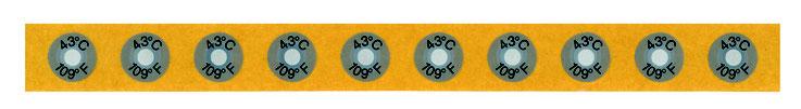 Einzelmesspunkte auf Endlosträgerband  (12mm & 18mm, mit / ohne Beschriftung erhältlich)