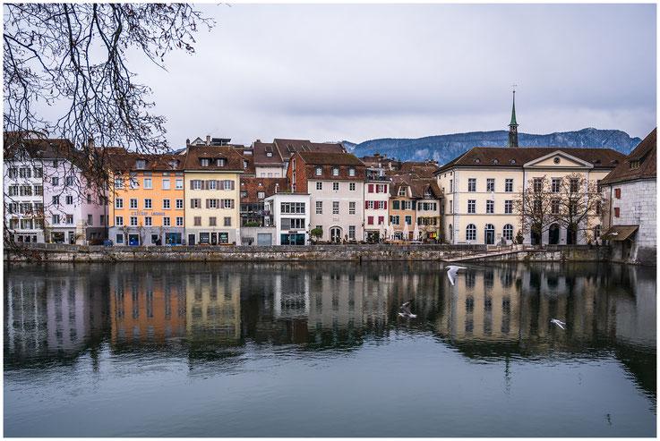 Uferpromenade Wasser Stadt Schweiz