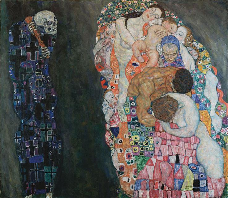 """Gustav Klimt, """"Morte e vita"""" (1915)"""