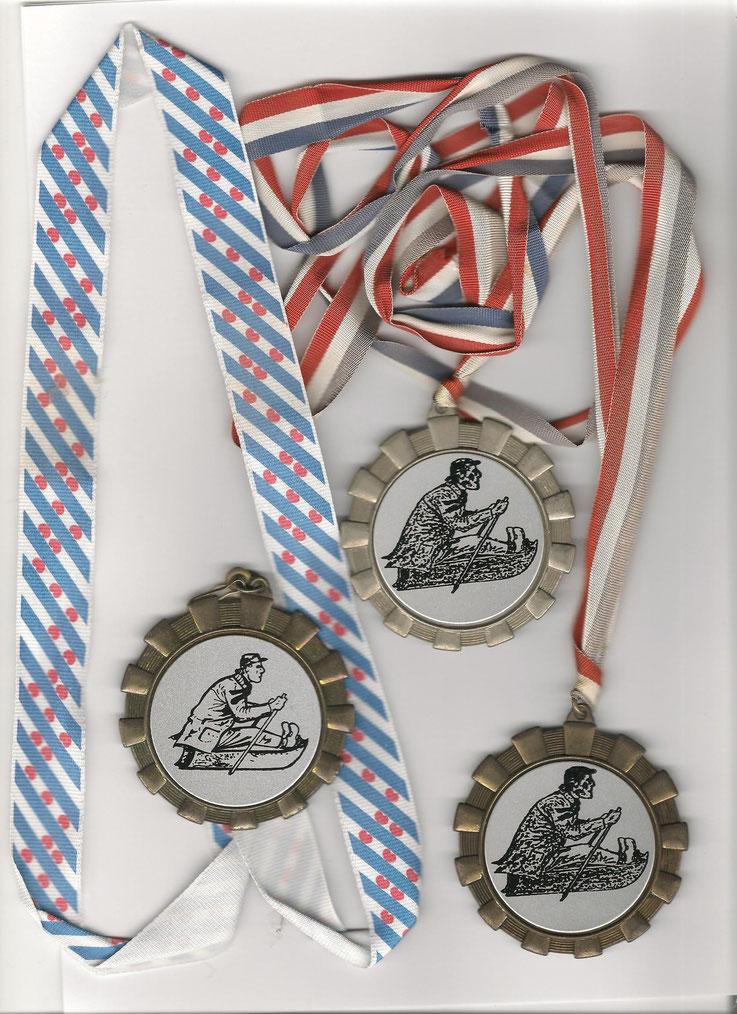 Goud, Zilver en Brons. Priksleekampioenschappen in 1989. In Heereveen en Alkmaar.