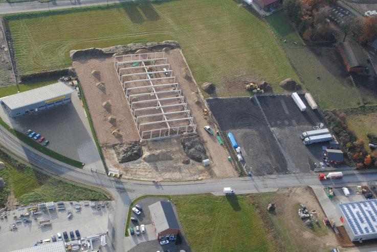 Bau der neuen Halle im Niedersachsenpark
