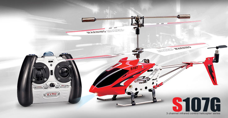 Syma S107G 3CH RC helicopter with GYRO(Red)