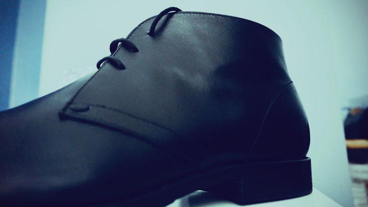 Stiefel Herren Leder schwarz repariert