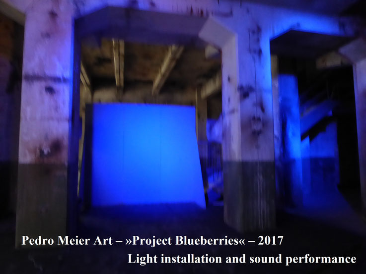 Pedro Meier Art – »Project Blueberries« 2017 – Light installation and sound performance – Photo © by Pedro Meier Multimedia Artist (Bangkok Niederbipp) – ArtCampus Switzerland