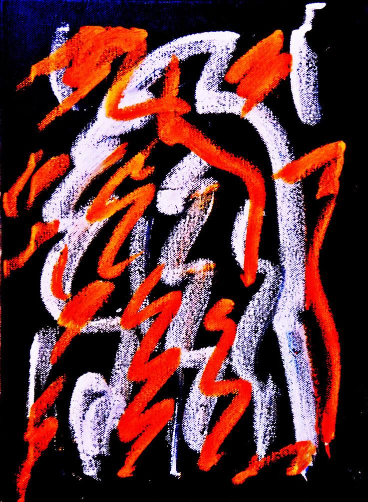 Pedro Meier – Neue Arbeiten Nr. 3 von 4 – Öl auf Leinwand – 60x48 cm – 2017 – in Shedhalle Fabrik-Atelier der ehemaligen BERNA Lastwagenfabrik Olten – Photo © Pedro Meier Multimedia Artist / ProLitteris – Gerhard Meier Weg – Niederbipp – Olten – Bangkok