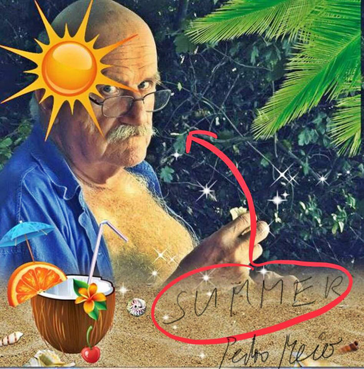 Pedro Meier – »Summer on the beach 2018« – PhotoArt by © Pedro Meier Multimedia Artist – »Selfie-Art-Project«. Atelier: Gerhard Meier-Weg Niederbipp und Bangkok Thailand – Kunsthalle Olten Offspace – DADA FLUXUS DigitalArt, MailArt – VISARTE SIKART Zürich