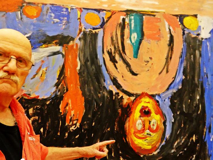 Pedro Meier »Selfie-Art-Project«  – »Pedro Meier grüsst George Baselitz – Kunsthaus Zürich« – Foto 2016 © Pedro Meier Multimedia Artist / ProLitteris – Niederbipp – Bangkok
