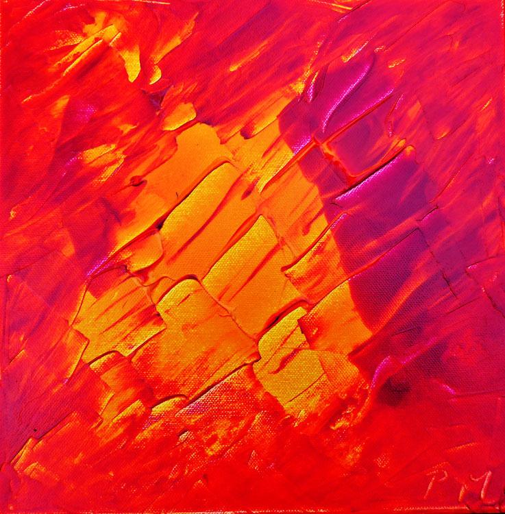 Pedro Meier – Eine Serie von 9 neuen Arbeiten – Nr. 2 – Öl /Acryl auf Leinwand – 50x50 cm – 2017 – Atelier Pedro Meier Gerhard Meier Weg Niederbipp – Photo © Pedro Meier / ProLitteris Multimedia Artist