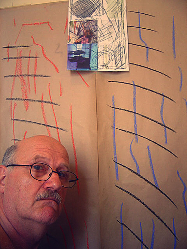 Pedro Meier SelfieArt – Calligraphy paintings – Sydney Studio Potts Point, formerly known as Woolloomooloo, New South Wales – 2005 © Pedro Meier Multimedia Artist MoMA Visual Art Museum Bangkok,  FLUXUS – DADA – SIKART Zürich – Niederbipp – Switzerland