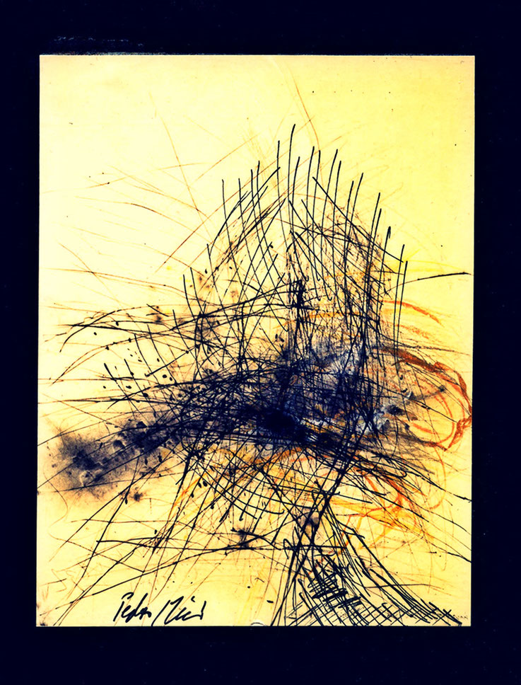 Pedro Meier chinesische Tuschemalerei, Mischtechnik und Federkiel, mehrfarbig. Nr. 35, 40×30 cm, 2015. Foto © Pedro Meier Multimedia Artist. Ateliers: Gerhard Meier-Weg, Niederbipp Bern, Kunsthalle Olten Offspace, Bangkok Art Group. Visarte, SIKART Zürich