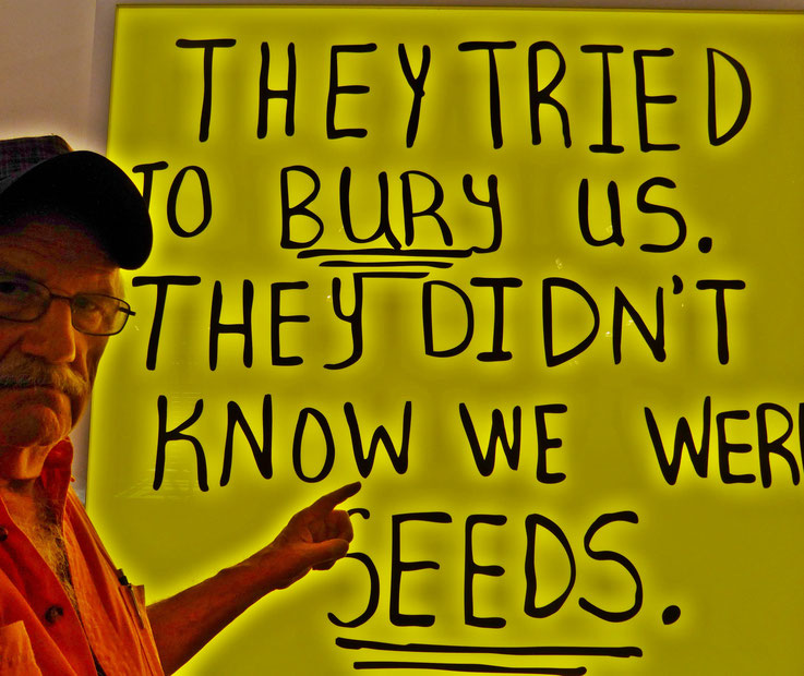 Pedro Meier PhotoArt – »They tried to bury us -  they diden't know we were seeds.« – »Selfie-Art-Project« – Art Basel Switzerland – Photo 2017 © Pedro Meier Multimedia Artist / ProLitteris – Niederbipp – Bangkok