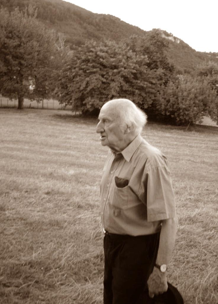 Gerhard Meier 88. Geburtstag 2005 – im Garten von Amrain am Gerhard Meier Weg in Niederbipp – Photo © Pedro Meier Multimedia Artist / ProLitteris