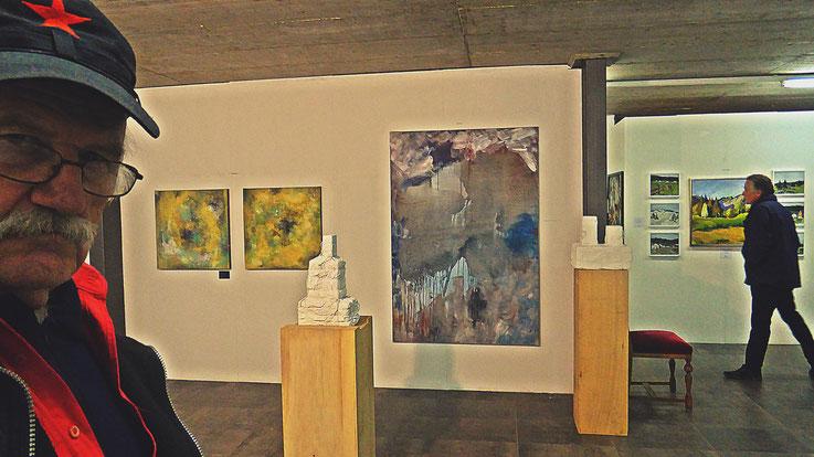 Pedro Meier – »Art Vent« Ausstellung – Stiftung Eggenschwiler, Eriswil –Dezember 2017 – Pedro Meier Multimedia Artist vertreten mit 3 Arbeiten: 2 Skulpturen »Weiss Verschnürt«, 1 Ölbild »Insel Rügen«– Atelier: Gerhard Meier Weg Niederbipp – Olten– Bangkok