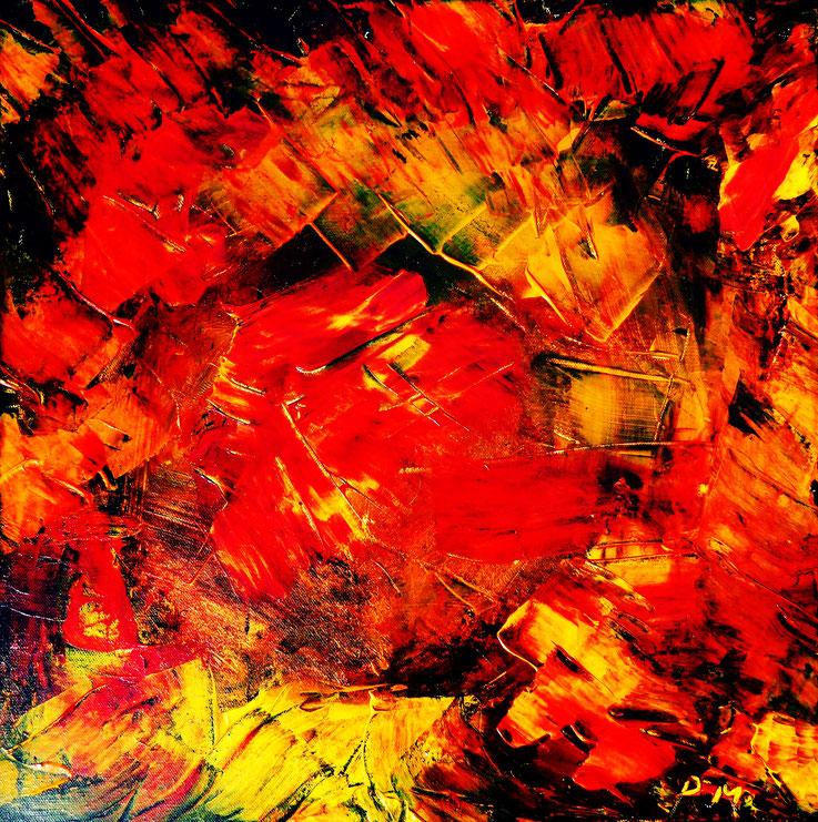 Pedro Meier – Eine Serie von 9 neuen Arbeiten – Nr. 8 – Öl /Acryl auf Leinwand – 50x50 cm – 2017 – Atelier Pedro Meier Gerhard Meier Weg Niederbipp – Photo © Pedro Meier / ProLitteris – Multimedia Artist