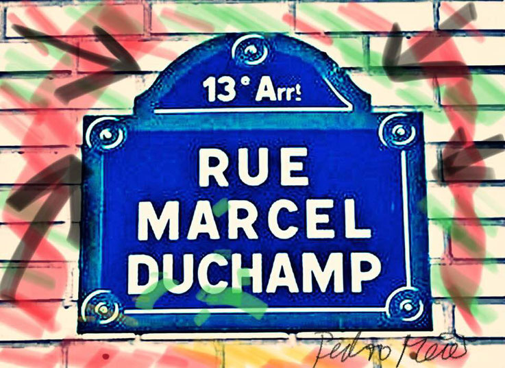 Pedro Meier – Rue Marcel-Duchamp 13e arrondissement - Paris France – DigitalArt Intervention by © Pedro Meier Multimedia Artist – Kunsthalle Olten Offspace – Atelier Gerhard Meier-Weg Niederbipp und Bangkok Thailand – PhotoArt FLUXUS DADA, SIKART Zürich