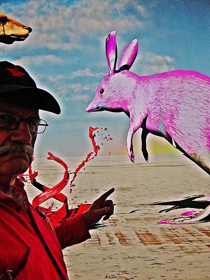 Pedro Meier – »Selfie-Art-Project« 2017 – John Russell, DOGGO, Kunsthalle Zürich Photo 2017 © Pedro Meier Multimedia Artist / ProLitteris – Gerhard Meier Weg Niederbipp Atelier: Olten Bangkok Museum Kunsthaus Visarte Kunsthalle Pop-Art Switzerland Berlin