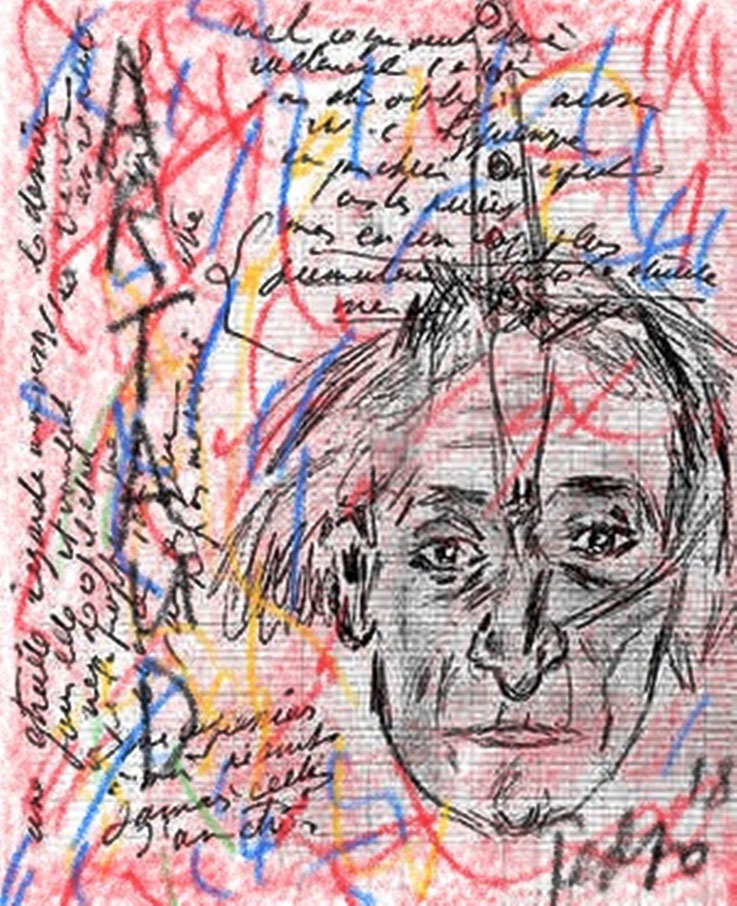 Pedro Meier – Antonin Artaud – Paraphrase zu Porträt und Notizen – Art Work by © Pedro Meier Swiss-German Multimedia Artist Visual Art Museum MoMA – FLUXUS – DADA – DigitalArt – ComputerArt – MailArt – Artists' Books – SelfieArt – SIKART Zürich, EUROPE