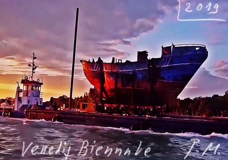 Biennale Venezia – Wreck of Migrant Ship, Flüchtlingsboot Barca Nostra Augusta Sicily, Swiss-Icelandic Christoph Büchel – Ralph Rugoff. PhotoArt by Pedro Meier Multimedia Artist, Ateliers: Niederbipp, Kunsthalle Olten Offspace, Bangkok BACC, SIKART Zürich