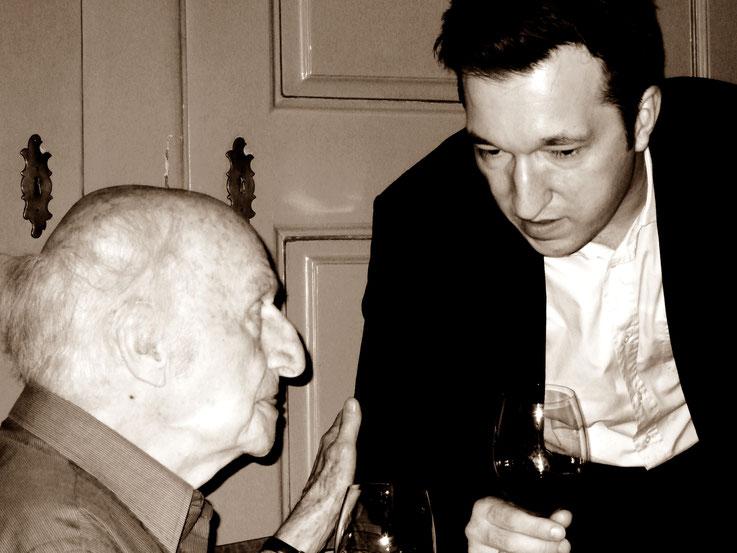 Pedro Meier – Gerhard Meier – Lukas Bärfuss – 90. Geburtstag Gerhard Meier – Schauspielhaus Zürich 2007 Suhrkamp, Zytglogge, Wallstein, Göttingen, Literaturarchiv – Foto © Pedro Meier Multimedia Artist/ProLitteris Zürich – Gerhard Meier-Weg Niederbipp