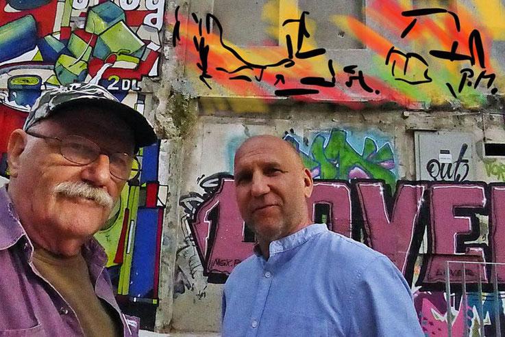 Pedro Meier – Sèyo Mercier Top Graffiti Artist, Campus Attisholz Areal – »Selfie-Art-Project« by Pedro Meier Multimedia Artist, Ausstellung 21.Triennale Grenchen 2018 – Atelier: Gerhard Meier-Weg Niederbipp / Bangkok Thailand / Kunsthalle. VISARTE, SIKART