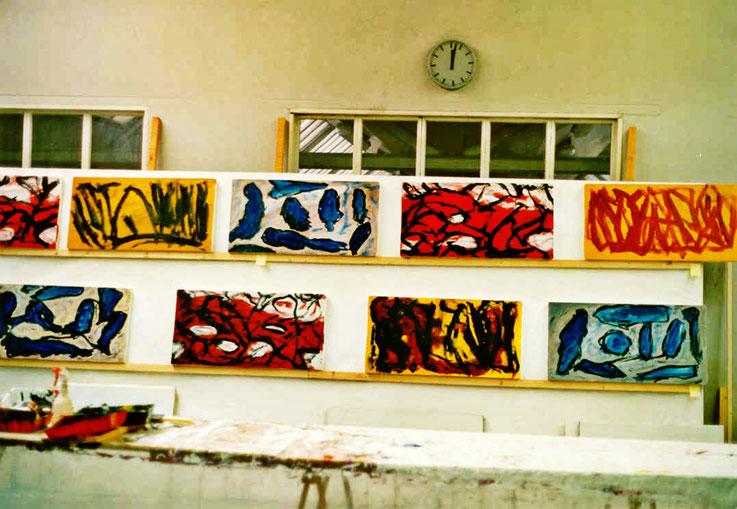 Pedro Meier – Bilder-Zyklus: Erinnern – Atelier Shedhalle Gugelmann-Areal Roggwil Langenthal – um 2001 © Pedro Meier Multimedia Artist MoMA Visual Art Museum Bangkok – FLUXUS – DADA – SIKART Zürich – Gerhard Meier Weg Niederbipp Bern bei Solothurn