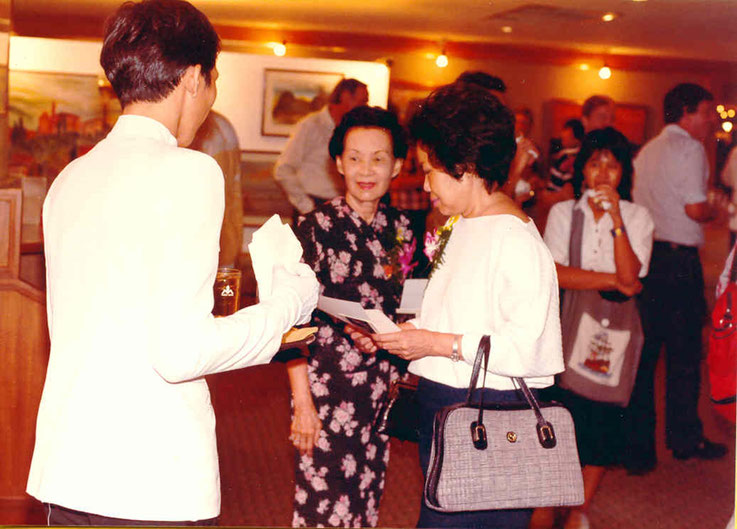 Pedro Meier Narai Gallery Guest of Honor – Madam Mom Rajawongse Seni Pramoj – Mom Rajawongse Seni Pramoj was three times the prime minister of Thailand and brother of Kukrit Pramoj, Siam Rath – Opening by André Regli Embassy of Switzerland Bangkok, 1986