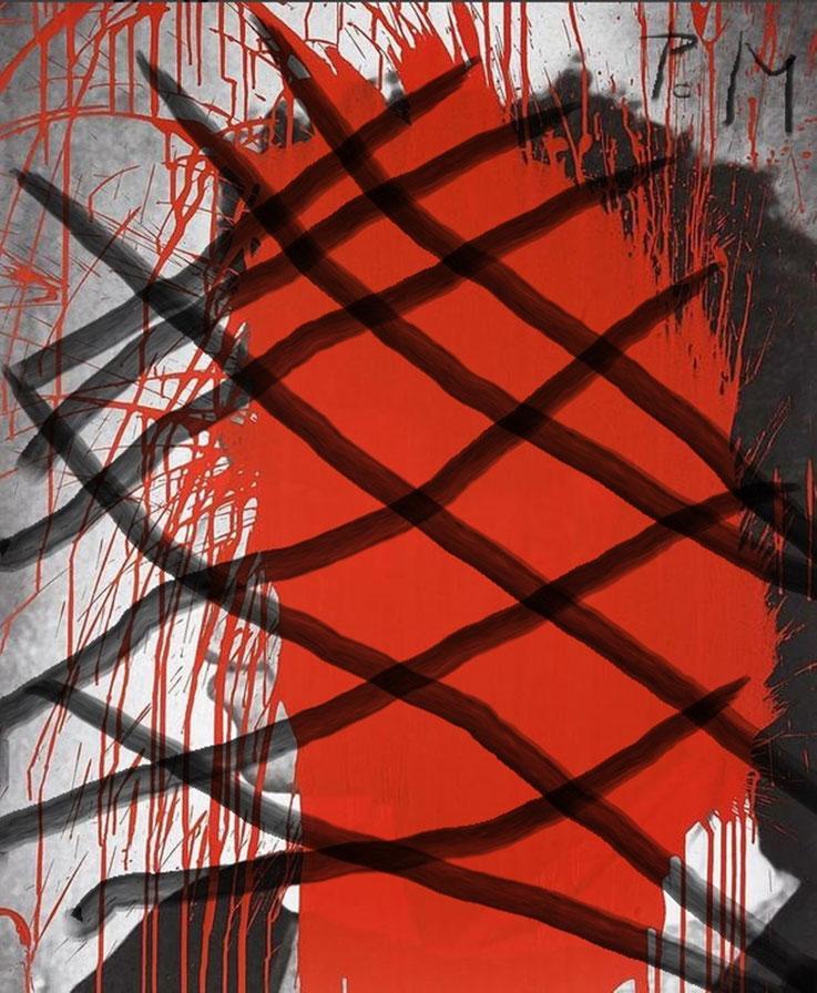 Pedro Meier – »Jean-Michel Basquiat übermalt« – Paraphrasen – Portrait Nr. 08 – 2017 – Acryl über Foto-Papier – Photo © Pedro Meier Multimedia Artist / ProLitteris – Gerhard Meier Weg – Niederbipp – Olten – Bangkok