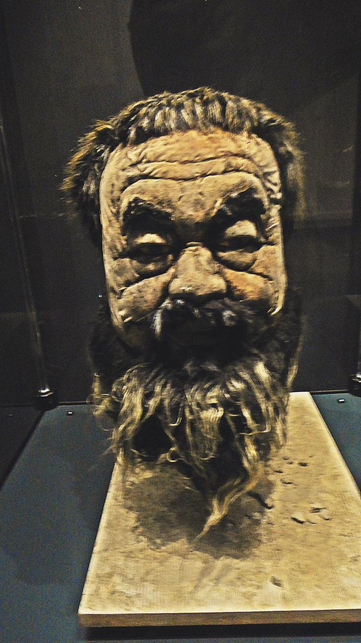 Pedro Meier – Ai Weiwei »Head« fabric and mud 2012 – »D'ailleurs c'est toujours les autres«, Musée cantonal des Beaux-Arts Lausanne – (Uli Sigg – Bernard Fibicher). Photo Pedro Meier Multimedia Artist 2017, Gerhard Meier Weg Atelier: Niederbipp – Bangkok