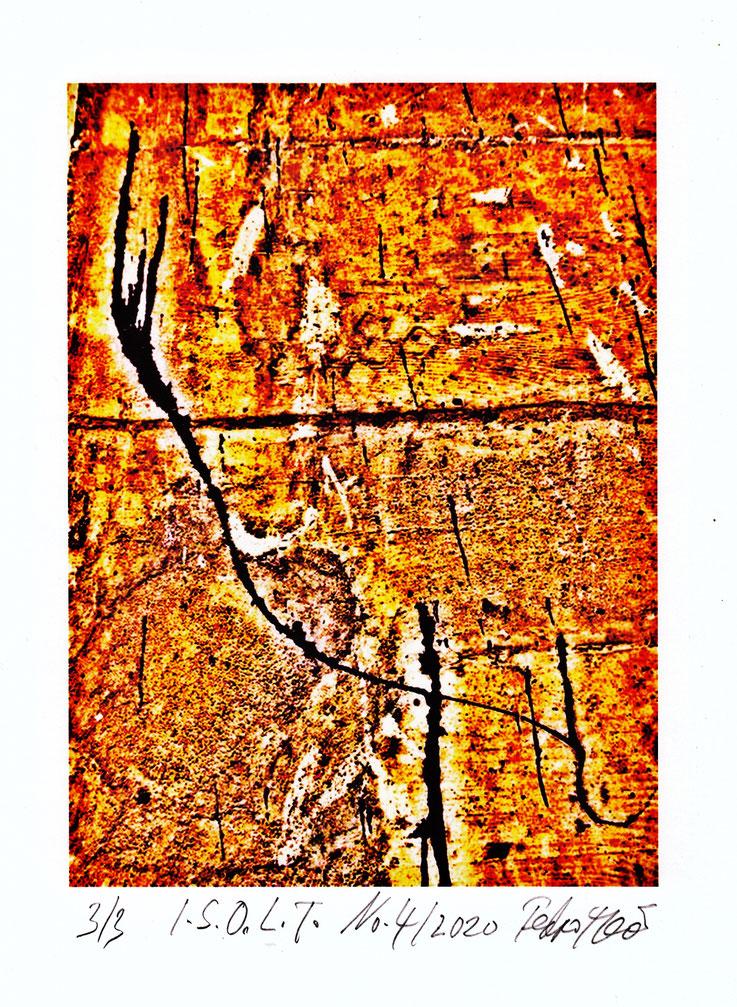Pedro Meier in F. Hoffmann-La Roche Kunstsammlung Basel – Ankauf 2020, Grafik-Edition – In Search of Lost Time – Nr. 04, PigmentPrint. Vorlagen für das Lyrik-Buch von Pedro Meier – PARALLELWELTEN – Wasteland Factory oder Der Garten der Lüste, AMRAIN BOOKS