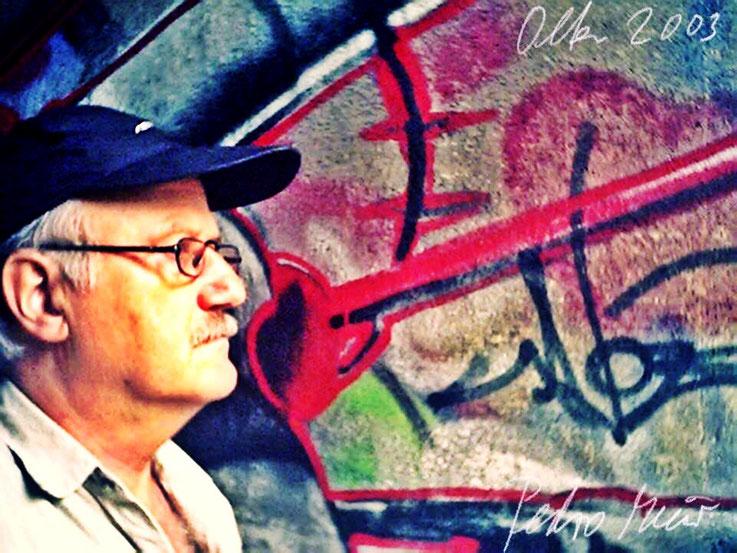 Pedro Meier – Baslerstrasse Olten Aare Graffiti – PhotoArt by © Pedro Meier Multimedia Artist – »Selfie-Art-Project« 2003 – Atelier Gerhard Meier-Weg Niederbipp und Bangkok Thailand. Kunsthalle Olten Offspace. DADA FLUXUS MailArt DigitalArt VISARTE SIKART