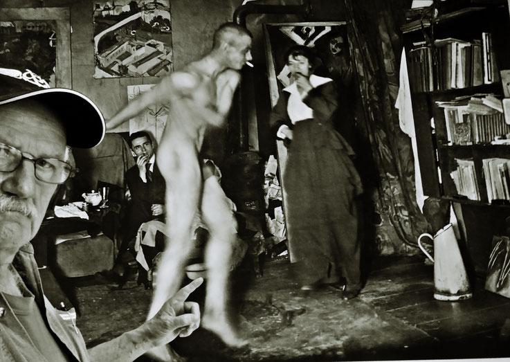 Pedro Meier Selfie-Art-Project – Ernst Ludwig Kirchner tanzend – Atelier Berlin 1915 – Kunsthaus Zürich 2017– Photo © Pedro Meier Multimedia Artist / ProLitteris – Gerhard Meier Weg – Niederbipp – Olten – Bangkok