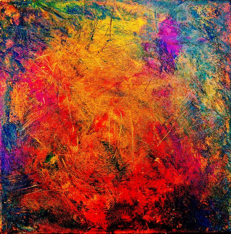 Pedro Meier – Eine Serie von 9 neuen Arbeiten – Nr. 4 – Öl /Acryl auf Leinwand – 50x50 cm – 2017 – Atelier Pedro Meier Gerhard Meier Weg Niederbipp – Photo © Pedro Meier / ProLitteris Multimedia Artist