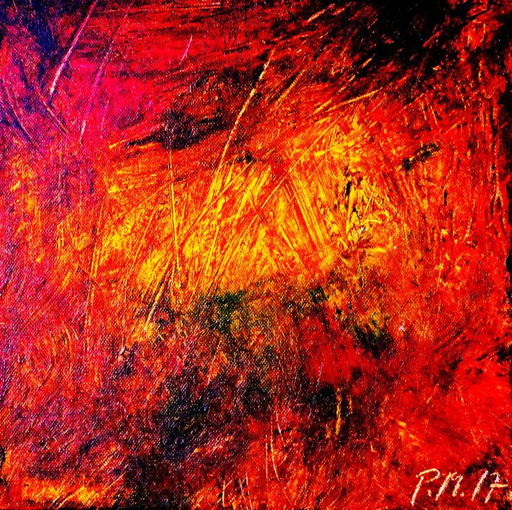 Pedro Meier – Eine Serie von 9 neuen Arbeiten – Nr. 6 – Öl /Acryl auf Leinwand – 50x50 cm – 2017 – Atelier Pedro Meier Gerhard Meier Weg Niederbipp – Photo © Pedro Meier / ProLitteris Multimedia Artist