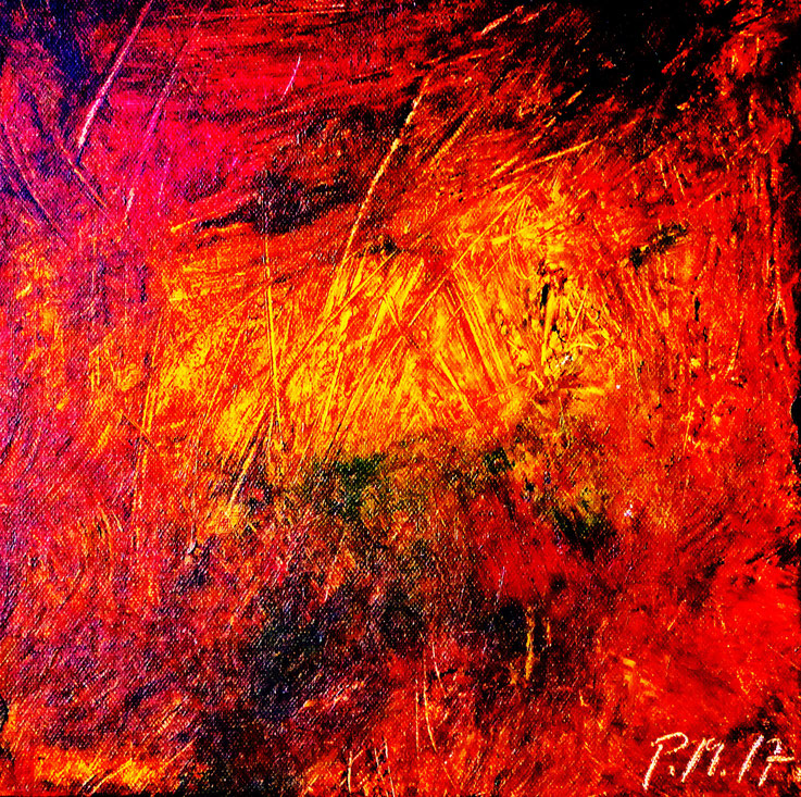 Pedro Meier – Eine Serie von 9 neuen Arbeiten – Nr. 9 – Öl /Acryl auf Leinwand – 50x50 cm – 2017 – Atelier Pedro Meier Gerhard Meier Weg Niederbipp – Photo © Pedro Meier / ProLitteris – Multimedia Artist